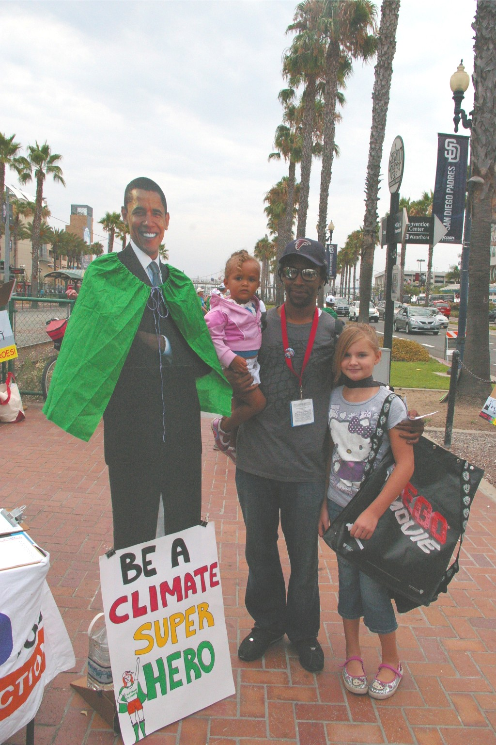 family of climate superheroes