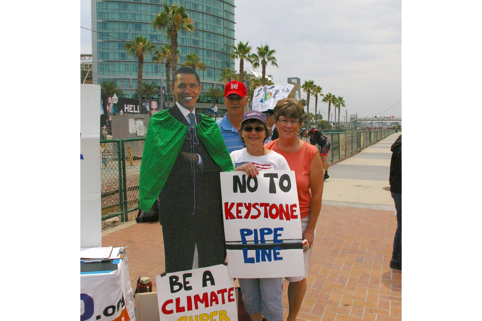 Visiting Nebraskans oppose the Keystone XL!