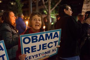 Vigil-goer calls on President to reject Keystone XL