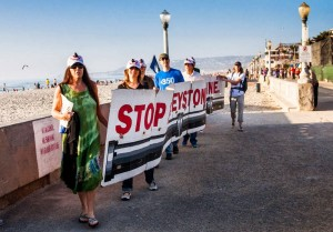 Walk for No Keystone pipeline @ Mission Beach | San Diego | California | United States