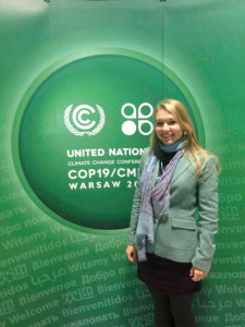 Ocean Scientist Natalya Gallo at COP19, Warsaw
