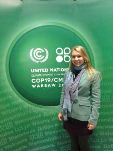 Ocean Scientist Natalya Gallo at COP19, Warsaw