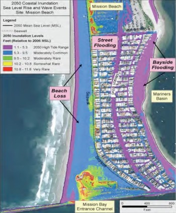 Misson Bay Flooding Map from SD FDN