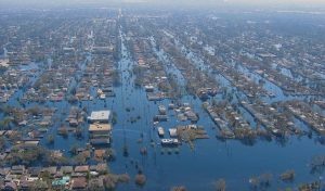 Sea-level rise increases hurricane flooding.