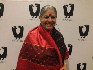 Vandana Shiva, world renowned Indian environmental activist.