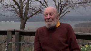 Folk singer Pete Seeger, age 94, at his home on the Hudson River, where he was interviewed for Pando Populus.