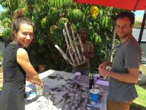 Oceanside Art Build with Anne Theddeus Justin