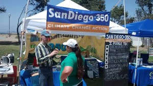 August 2016 - My first volunteering gig with SanDiego350 - at Harborfest in Chula Vista