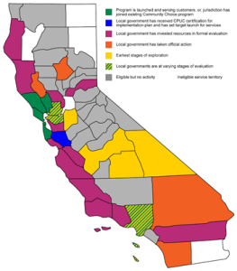 Stages of CCE progress in California. Source: Clean Power Exchange