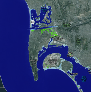 Sea Level Inundation with 6' Rise