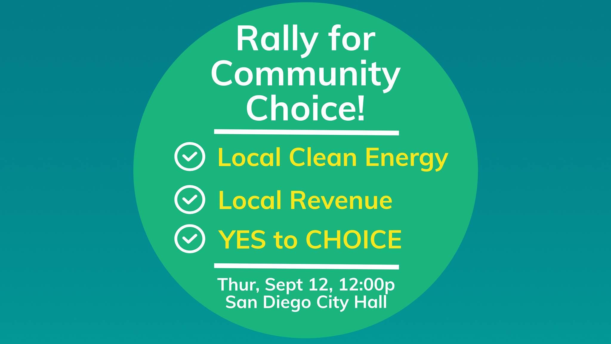 Rally for Community Choice! @ San Diego | California