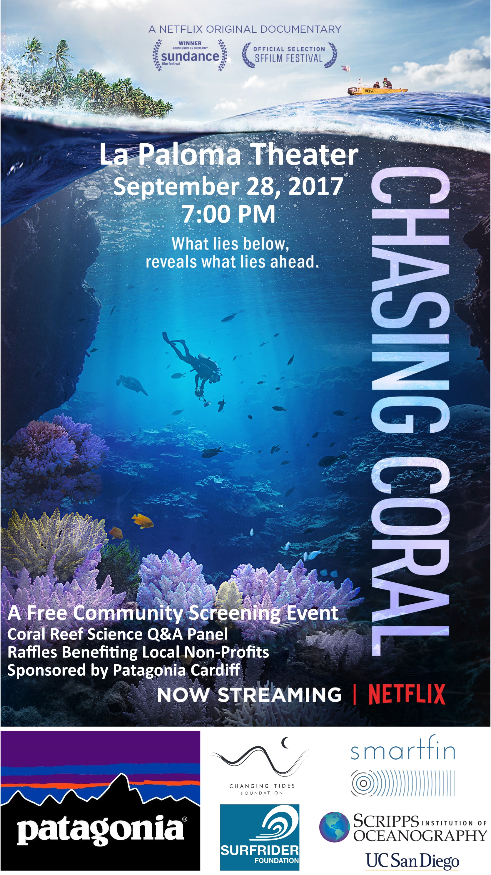Chasing Coral screening on 9-28 @ Encinitas | California