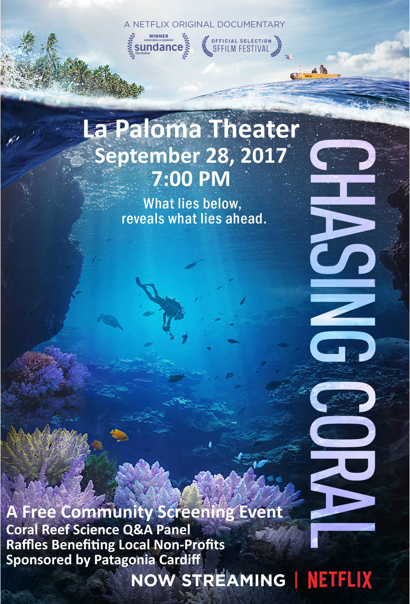 Chasing Coral screening @ La Paloma Theater | Encinitas | California