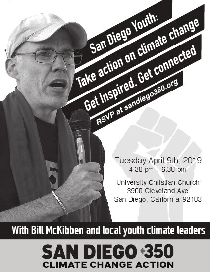 Climate event for Students - with Bill McKibben @ University Christian Church | San Diego | California