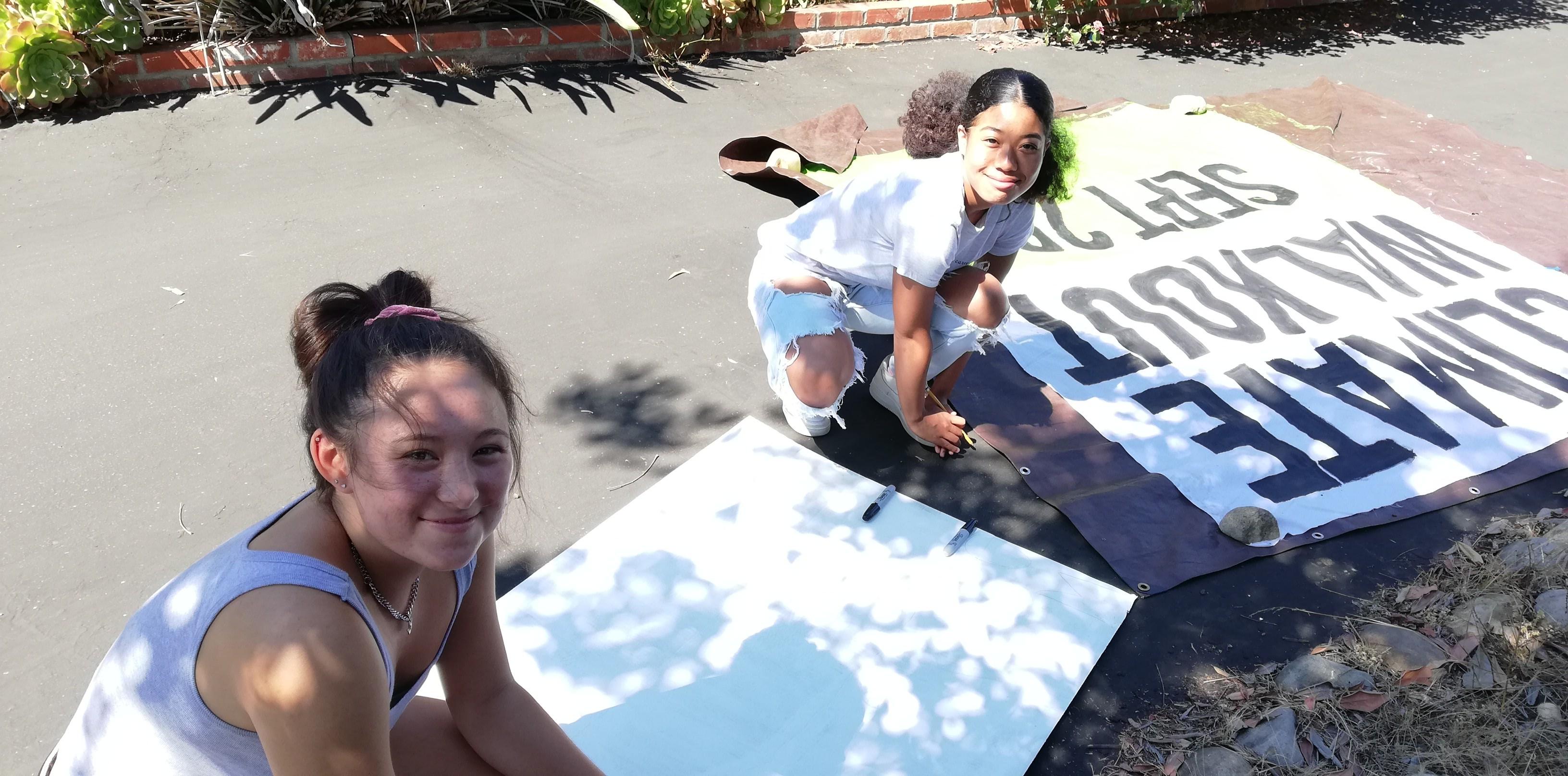 Art build for Global Climate Walkout #1 @ Masada's house | La Mesa | California