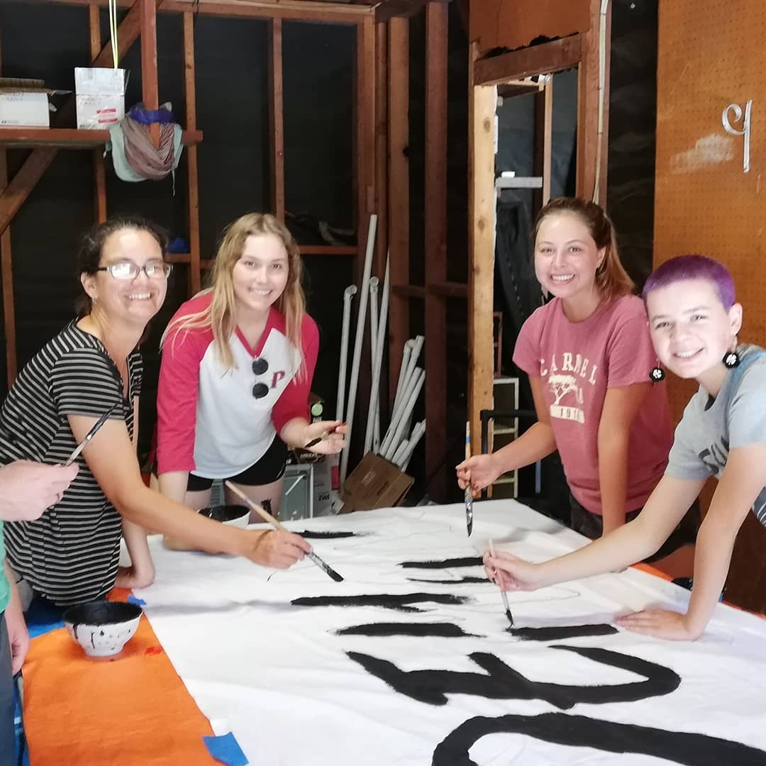Art build for Global Climate Walkout #2 @ Encinitas | California