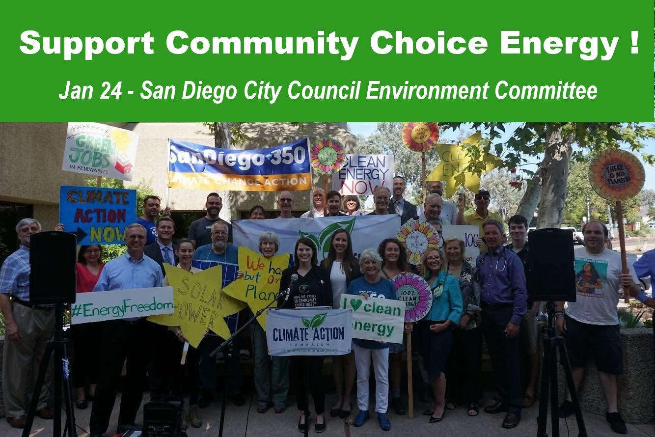 Support Community Choice Energy! @ San Diego City Hall | San Diego | California